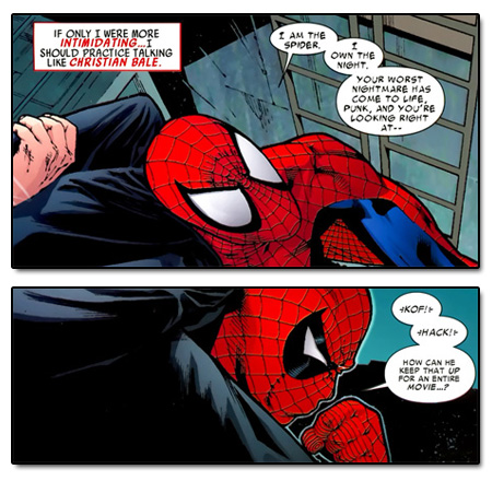 Amazing Spider-Man #589 or rather, Peter Parker does his best Christian Bale
