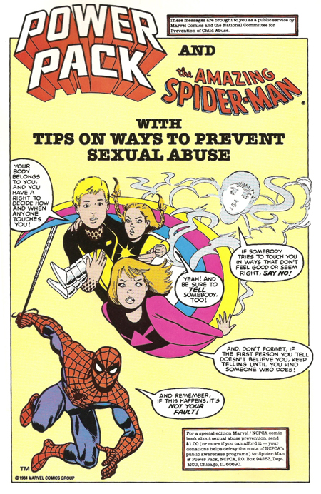 Spidey & Power Pack Don't Like Pederasts