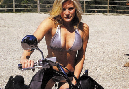 Starbuck Is Just As Sexy on A Bike As She Is In A Viper