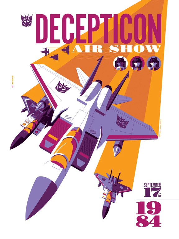 """Decepticon Air Show"" by Tom Whalen @strongstuff"