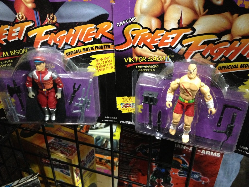 Remants of the much maligned Street Fighter ... err GI Joe Street Fighter line from Hasbro