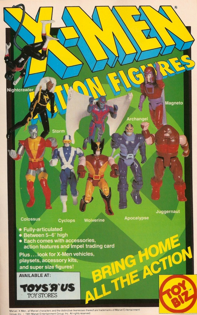 1991 Ad Scan for ToyBiz X-Men Action Figure