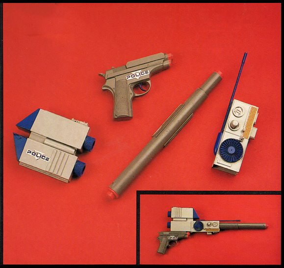 Ultra Police Role Playing Gear -- This modular system made it to the concept stage but would later be incorporate into Kenner's Batman line